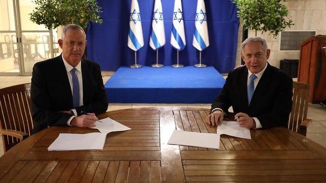 BENJAMÍN NETANYAHU Y BENNY GANTZ ACUERDAN UN GOBIERNO DE EMERGENCIA NACIONAL EN ISRAEL